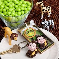 Jungle Critters Monkey Key Ring Favours